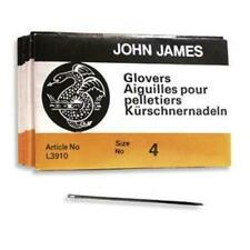 25 SIZE FOUR (#4) GLOVERS NEEDLES - Perfect for Leather! Glover's