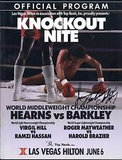 Thomas Hearns Iran Barkley On Site Boxing Program  June 6 1988 Autographed