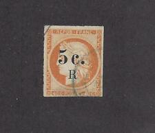 """REUNION -  6 - USED - 1885 - """"5 c. R"""" O/P ON FRENCH COLONIES"""