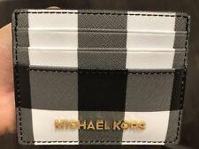Neuf avec Étiquettes Michael Kors Jet Set Large en Cuir Porte Carte Support Noir