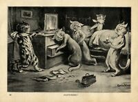 LOUIS WAIN CATS THIEVES ROBBING CATS AT GUNPOINT JEWELRY LOUIS WAIN CAT ROBBERS