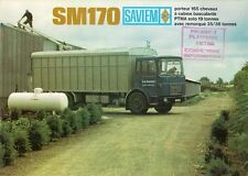Saviem SM 170 Truck 1968-69 French Market Foldout Sales Brochure