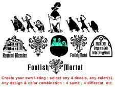 Create your own HAUNTED MANSION decal listing - 4 LOT