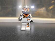 Lego Custom Agent White Minifigure With Gray Helmet