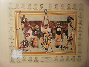 Brett Favre Signed Packers Super Bowl XXXI Print 11 team signatures Hall of Fame