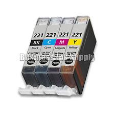 4 Color Ink set for Canon CLI-221 BK CMY CLI 221 Pixma MX860