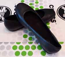 CROC GRACE FLAT LEATHER SAFFRON Alice Non Slip WORK SHOE~Black~W 7~NWT