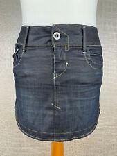 G-STAR 3301 Damen Gr. W25 Jeansrock Denim skirt dark graublau Rock Minirock 405