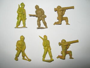 Cherilea toy soldiers 6 in 5 poses late 1950's all good cond no damage rare
