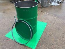 Streugutbehälter, Metallfass 200 l mit Deckel grün