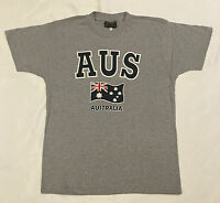 Adult Mens Womens  Australian  Souvenir  T Shirt Aussie Tee Top  Grey W/Flag