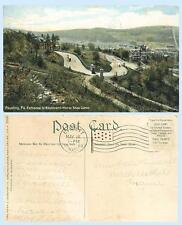 Entrance to Boulevard Horse Shoe Curve Reading Pennsylvania 1909 Postcard
