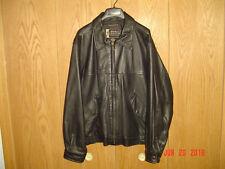 Men's EDDIE BAUER LEGEND JOURNEYMAN BOMBER Black Leather Jacket Size Small B32