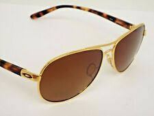 Authentic Oakley OO4079-11 Feedback Polishd Gold Brown Polarized Sunglasses $245