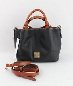 Dooney & Bourke NWT Black Rust Leather City Mini Barlow Handbag Crossbody