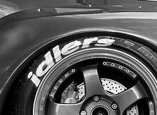 4x IDLERS tyre stencil stickers decals, Rauh Welt,illest, fatlace, RWB,drift