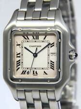 Cartier Jumbo Panthere Stainless Steel Silver Dial Mens 30mm Quartz Watch 1300