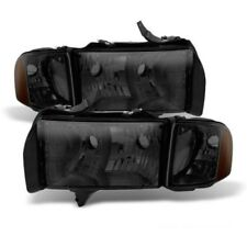 Dodge 99-01 Ram 1500 Sport Model Smoke Tinted Replacement Headlights Pair Set