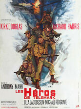 THE HEROES OF TELEMARK Movie POSTER 27x40 B Richard Harris Kirk Douglas Michael