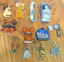 New ListingKeychain Lot Of 12 Keyrings-Stained glass-Cartoon Characters-Tv-Travel-Anim als