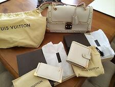Louis Vuitton Suhali Le Talentueux Bag Purse Key Holder White Blan