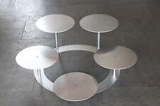 Aluminium Hochzeitstortenständer 5 Platten Etagere Treppenständer Tortenständer