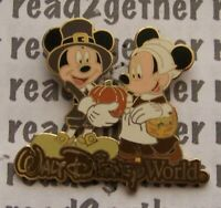 Disney Pin DisneyPins.com WDW Mickey and Minnie Thanksgiving
