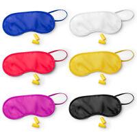 Travel Eye Mask And Ear Plug Set Sleep Comfort Travel Pack Holiday Vacation UK