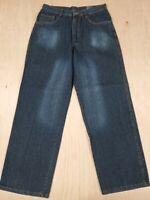 ■601 THE NORTH FACE Jeans Men's 100% Cotton Baggy Fit 32x31 Dark Wash Denim