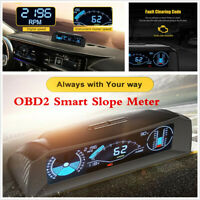OBDII Inclinometer Slope Meter Indicator Level Gauge Car Speedometer Code Reader