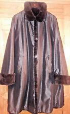NERZ MINK SWINGER Mantel Coat wendbar! reversible! ungetragen! 42-44, XL zobel