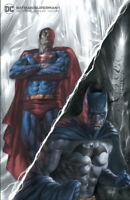 BATMAN SUPERMAN #1 PARRILLO B&W VARIANT DC COMICS 2019 BATMAN WHO LAUGHS W/COA