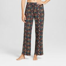 NWT?Gilligan & O'Malley?Women's Pajama Pants Large Total Comfort Navy Floral Lg