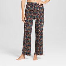 NWT?Gilligan & O'Malley?Womens Pajama Pants Large Total Comfort Navy Floral Lg
