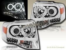 07-13 Ford Expedition CCFL Halo Projector Headlights Chrome Housing