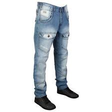 Jeans da uomo affusolati, taglia 34
