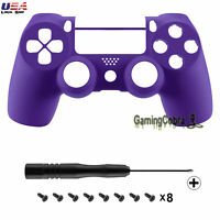 For Playstation PS4 Pro Slim Controller Shell Mod Soft Touch Gel Purple JDM-040
