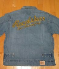 Roca Wear Mens Blue Jean Denim Jacket X-Large