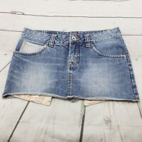 Unionbay Denim Skirt Size 7 Womens Blue Jean Mini Skirt Cotton Used Condition