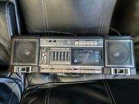 Vintage 1985 JVC PC-30J Cassette Player Boombox ~ Tested & Working! Sony
