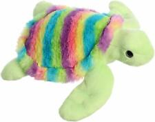 "Aurora 12"" Rainbow Turtle Plush Toy Animal"