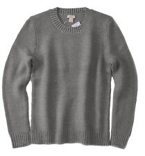 J Crew Factory - Womens XL - NWT - Solid Gray Long Sleeve Cotton Crew Sweater