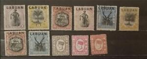BRITISH LABUAN Stamp Lot MH Mint Hinged Unused Used G3149
