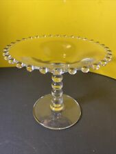 Imperial Candlewick Clear Glass Pedestal Round Compote