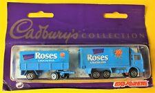1994 MAJORETTE CADBURYS ROSES TRUCK AND TRAILER.