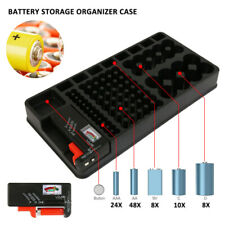 110X Battery Organizer Storage Case with Removable Tester For AAA AA 9V C D