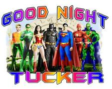 "JUSTICE LEAGUE HEROS Personalized PILLOWCASE #2 ""GOOD NIGHT"" Any NAME Super Soft"