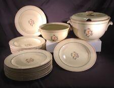 Antique SET 23 Pc Villeroy Boch Dresden Plate Bowl Tureen Nouveaux 469 Leaf Ivy