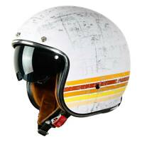 3/4 Open Face DOT Helmet Motorcycle Scooter Cafe Racer Retro Vintage M L XL XXL