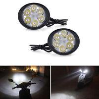 Motorcycle Headlight Spot Fog Front Lights 6 LED Head  Driving Lamp 12V-85V 2X